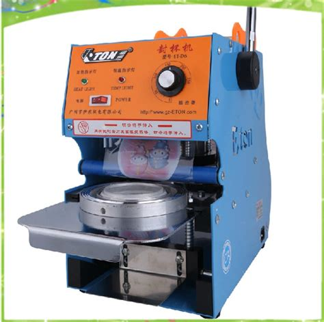 shipping electric automatic plastic cup sealing machine commercial cup sealing machine