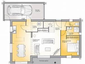 plans de maison rdc du modele eco concept maison With plan maison 110m2 etage