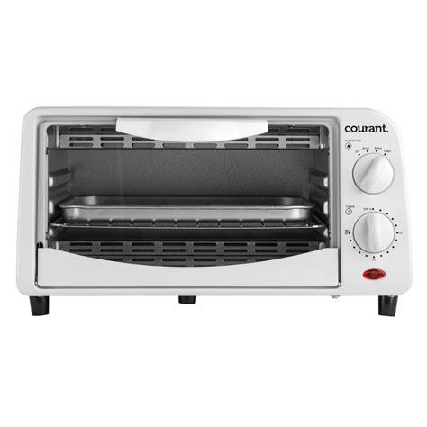 White Digital Toaster Oven by Toaster Oven White 4 Slice Countertop Toaster Bake Broil