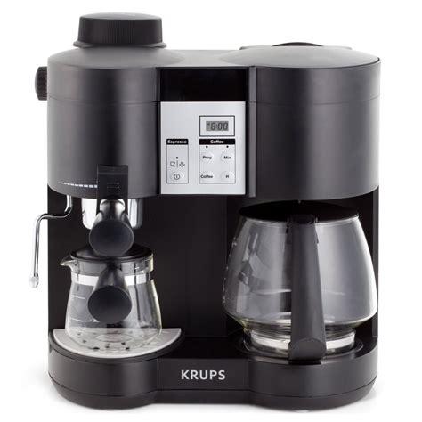 krups combination coffee maker espresso machine cutlery