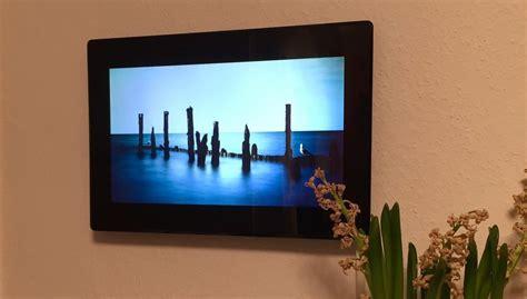 Digitaler Bilderrahmen Wandmontage by Impressionen An Der Wand Auf Einem 15 6 Zoll Bilderrahmen