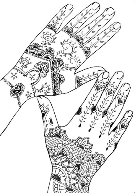 Art Therapy coloring page tattoos : Tattoo: hands 2