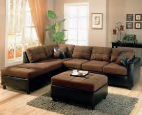 livingroom sectionals two tone modern sectional sofa 500655 chocolate brown