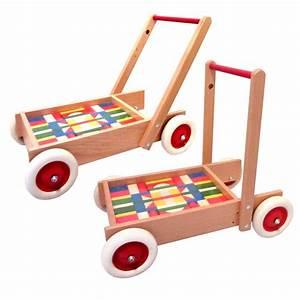 Puppenwagen Ab 1 Jahr : holzspielzeug lauflernwagen mit bunten bausteinen f r kinder ab 1 jahr ~ Eleganceandgraceweddings.com Haus und Dekorationen