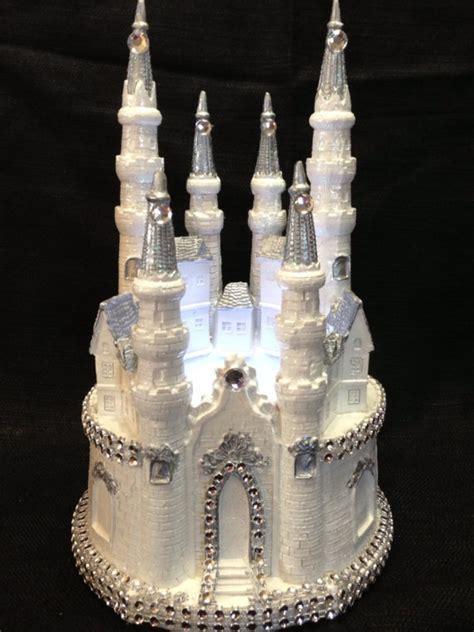 pin cinderella castle cake topper  silver finally