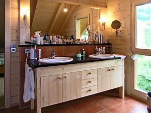 Waschtischplatte Holz Rustikal : waschtisch vom schreiner aus sulzbach f r ein holzhaus ~ Sanjose-hotels-ca.com Haus und Dekorationen