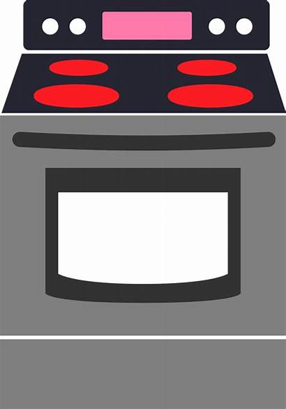 Cartoon Clipart Clip Oven Stove Kitchen Cooking