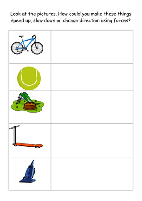 pushes and pulls by rachelhicks teaching resources tes