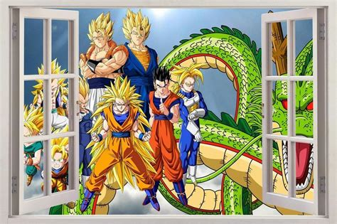 dragon ball z 3d window view decal wall sticker decor art