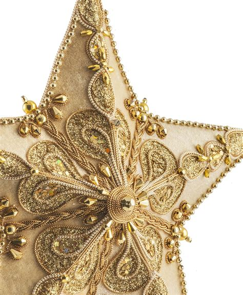 cream velour star tree topper tree classics