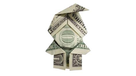 how to fold a money origami elf santa claus youtube