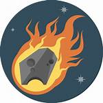 Meteor Icon Space Icons Flat Fire System