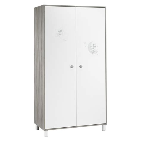 mickey armoire 2 portes blanc de sauthon s 233 lection