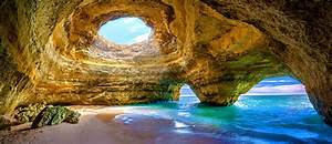Portugal, U0026, 39, S, Most, Beautiful, Sea, Cave, Benagil, Cave