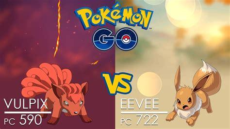 pok 233 mon go battle vulpix vs eevee fight
