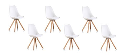 lot 6 chaises blanches offre sur 6 chaises de salon blanches