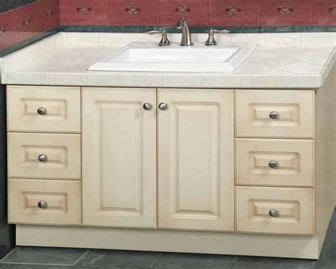 bathroom ideas unstained mahogany wood vanity for