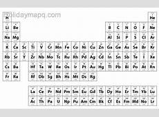 Periodic table printable HolidayMapQcom