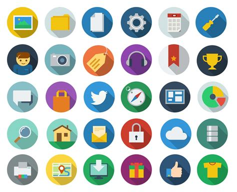 free download modern long shadow icons webdesigner depot