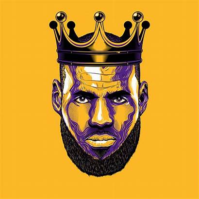 Lebron James Lakers King Vector Illustration Basketball
