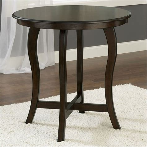 round bar height table hillsdale wilmington round counter height cappuccino pub