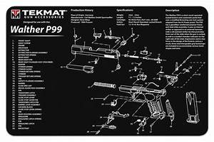 Gun Cleaning Tekmat For The Walther P99