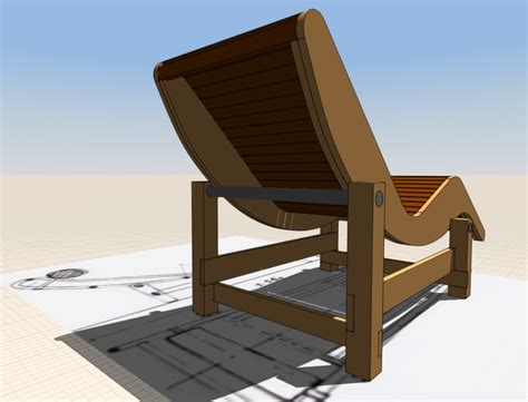 Patio Chaise Lounge, Designed In Formit|autodesk Online