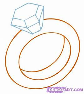 how to draw the rings With how to draw a wedding ring