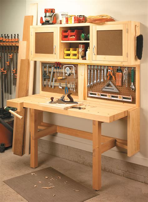 fold  workstation woodworking project woodsmith plans