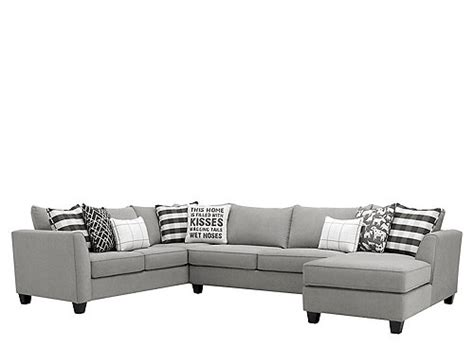 daine  pc sectional sofa  full sleeper pebble gray