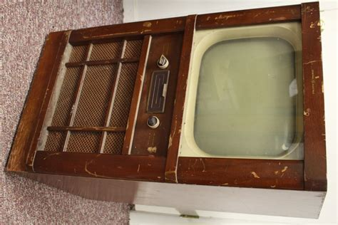 Age Console by Vintage Wooden General Electric Tv Retro Space Age