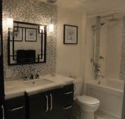 black and white small bathroom ideas black and white small tile backsplash with decorative mirror for small bathroom decolover