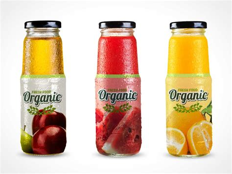 Download 6 juices bottle mockup free vectors. Sweaty Drink Bottles & Twist Caps PSD Mockup - PSD Mockups