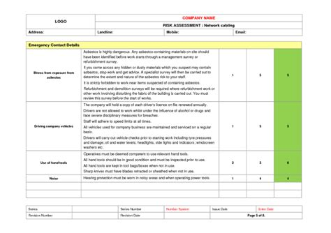 network cabling risk assessment