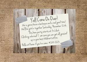 redneck party invitation personalized and by With free printable redneck wedding invitations