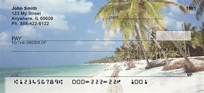 Checks Beach Palm Tree Personal Awaits Paradise