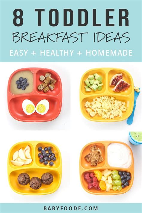 toddler breakfasts easy healthy baby foode