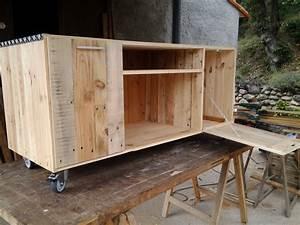 plan meuble palette With fabriquer un meuble avec des palettes