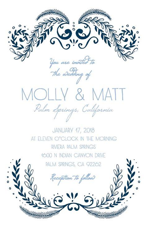 print ornate  printable wedding invitation