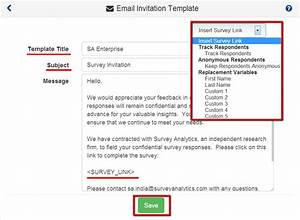 surveyanalytics features With email questionnaire template