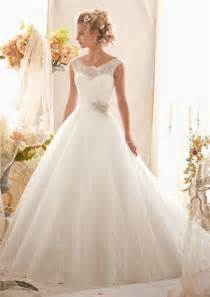 brautkleider princess gown cap sleeve illusion back tulle lace wedding dress with sash