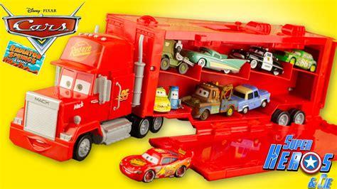 Camion Mack Cars Disney Cars Mack Truck Camion Transporteur 16 Voitures Flash Mcqueen Jouet Carry Les