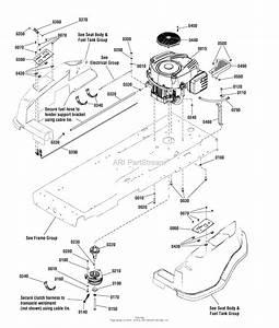 Simplicity 2691036-00 - Zt2142  21hp B U0026s Rider W  42 U0026quot  Mower Parts Diagram For Engine Group