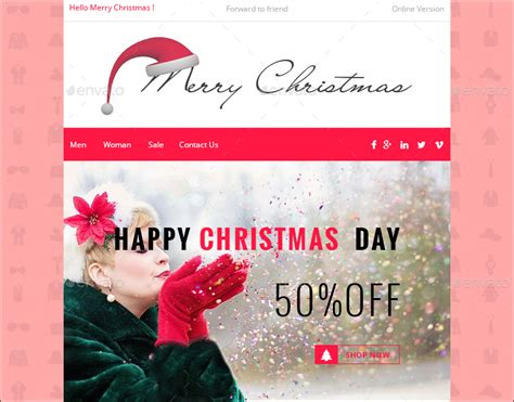 Christmas Email Template Free Download Image collections - Template ...