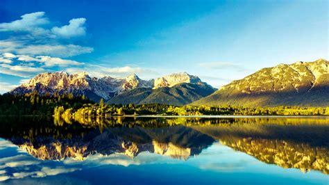 fondo pantalla paisaje bosque lago