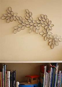 Homemade toilet paper roll art ideas for your wall