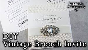 how to make elegant brooch pocket invitations diy With diy pocket wedding invitations youtube