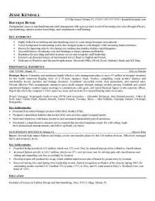purchasing resume exles free boutique buyer resume exle
