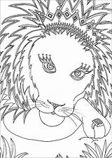 Lion Coloring Pages Children Animals sketch template