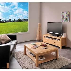 Table Basse Tv : table basse et meuble tv kelly 1 ~ Melissatoandfro.com Idées de Décoration